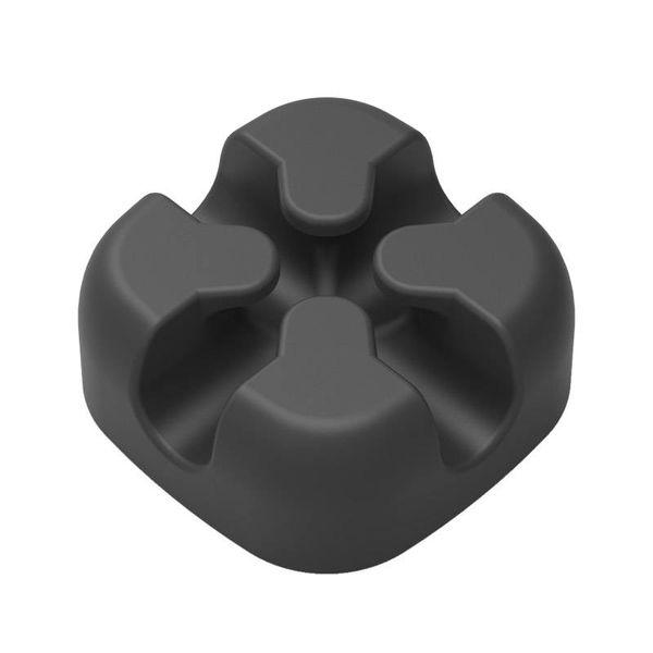 Orico Clip de câble en silicone en forme de croix - Noir