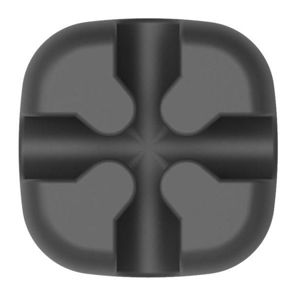 Orico Desktop Kreuzförmiger Silikon-Kabelclip - Schwarz