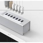 Orico Alu 7 ports USB 3.0 HUB avec adaptateur d'alimentation 12V - Argent