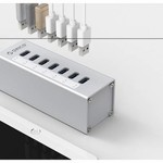 Orico Aluminum USB 3.0 Hub with 7 ports - Incl. 12V power adapter - Silver