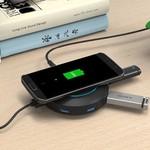 Orico Hub USB avec chargeur sans fil - Noir