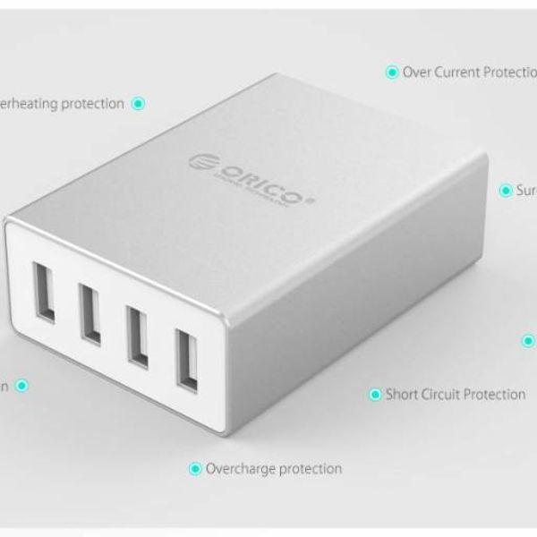 Orico Chargeur de bureau 4 ports en aluminium