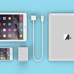 Orico Aluminum desk charger with 4 USB charging ports and intelligent device recognition - LED indicator - Silver