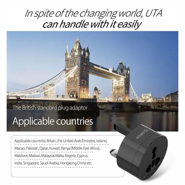 Orico Worldwide All-in-one Plug Adapter - Black