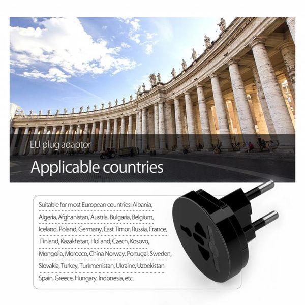 Orico All-in-one plug adapter - Wereldwijd gebruik - Extra beveiligd voor kinderen - Incl. Flanellen beschermtasje - Zwart