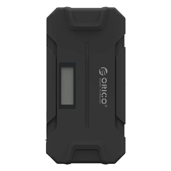 Orico 2-in-1 Jumpstarter and outdoor power bank 12000mAh - Li-Po battery - LED indicator - Waterproof rubber housing - Black