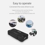 Orico 2-in-1-Starthilfe und Außenbank 12000 mAh - Li-Po-Akku - LED-Anzeige - Wasserdichtes Gummigehäuse - Schwarz