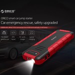 Orico 2-in-1 Jumpstarter en outdoor powerbank 18000mAh - Li-Po batterij - LED-indicator - Waterdichte rubberen behuizing – Zwart