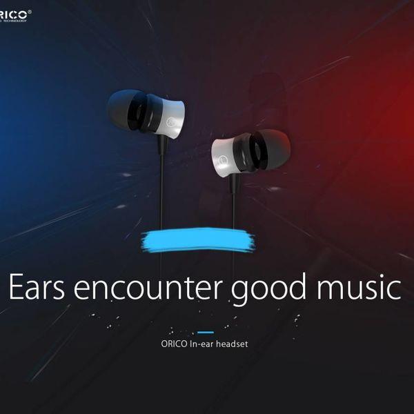Orico In-Ear-Kopfhörer mit Mikrofon und Steuertaste - 3,5-mm-Buchse - Hochauflösendes Audio - Schwarz