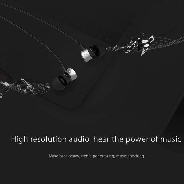 Orico Écouteurs intra-auriculaires avec microphone et bouton de commande - Jack 3,5 mm - Audio haute résolution - Noir