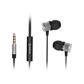 Orico In-ear headphones with microphone and control button - black