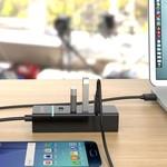 Orico Stylish USB 3.0 hub with 4 ports - for Windows XP / Vista / 7/8/10 / Linux / Mac OS - LED indicator - Black