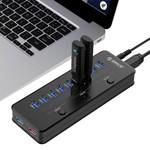 Orico Concentrateur USB3.0 à 10 ports avec port de charge intelligent et 3 interrupteurs d'alimentation ON / OFF