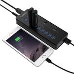 Orico USB 3.0 hub met 10 Type-A poorten, 1 USB-laadpoort en 3 aan/uit schakelaars - Incl. stroomadapter 48W 12V-4A - Datakabel van 100CM - Incl. LED-indicatoren - Zwart