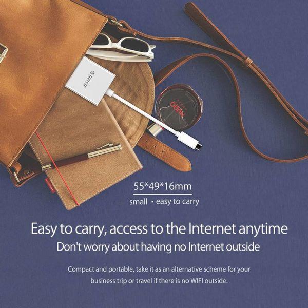 Orico Adaptateur Ethernet Gigabit Ethernet Type C vers RJ45 - avec alimentation - Style Mac - 10/100 / 1000Mbps - Argent