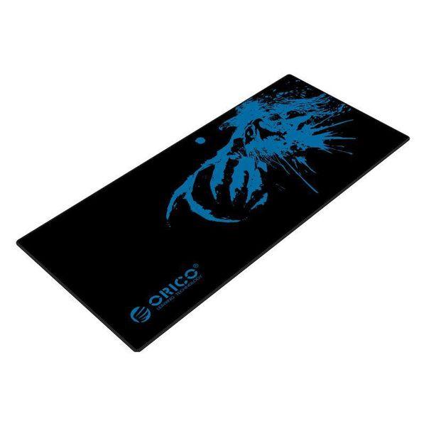 Orico Tapis de souris de jeu XXL en caoutchouc naturel - adapté aux designers - belle finition - design antidérapant - lavable - noir / bleu