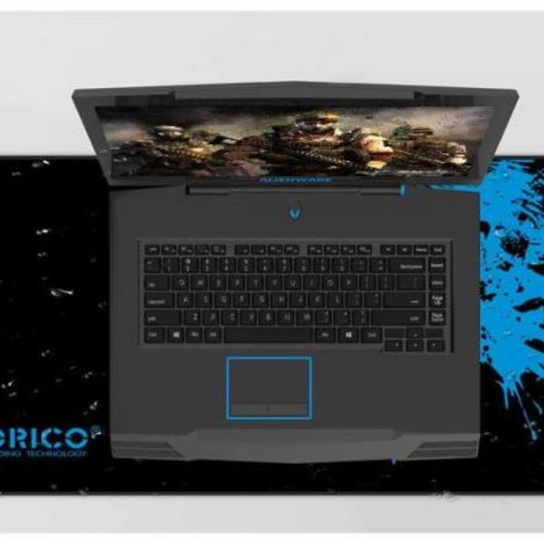 Orico XXL game mouse pad made of natural rubber - suitable for designers - beautiful finish - anti-slip design - washable - black / blue