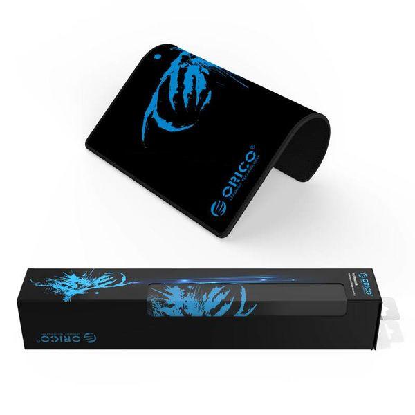 Orico game-muismat gemaakt van natuurlijk rubber - geschikt voor ontwerpers - mooie afwerking - antislip ontwerp - wasbaar - zwart/blauw