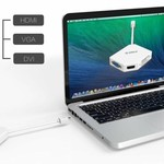 Orico Mini DisplayPort zu HDMI, DVI und VGA Adapter - Full HD - Weiß