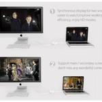 Orico MiniDP vers HDMI - DVI - Adaptateur VGA - Full HD - blanc
