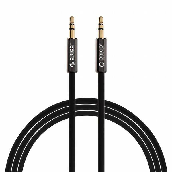 Orico Câble audio 3,5 mm mâle à mâle - Connecteurs plaqués or - Longueur: 1 mètre - Noir
