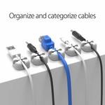 Orico Desktop Cross-shaped silicone cable clip - Gray