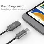 Orico Câble de charge et de données de type C - 2,4 A - Tissu denim tissé - Longueur de câble: 1 mètre - Noir