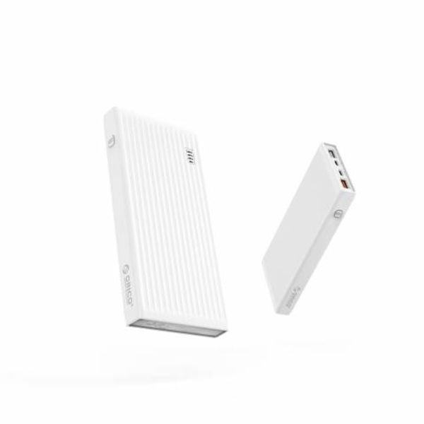 Orico Universal Quick Charge Power Bank - 10000mAh Compatible with Type C - Li-Po Battery - LED Indicator - White