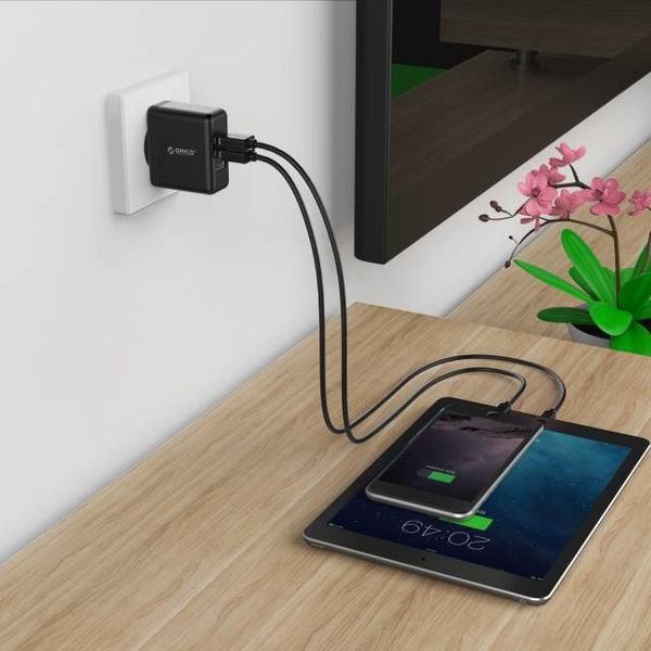 Orico 3-Port Smart Wall Charger - Black