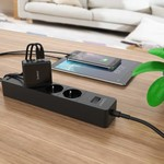 Orico Compact travel / home charger with 4x USB charging ports - 5V-2.4 per port - IC Chip - Black