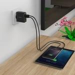 Orico Chargeur de voyage / maison compact avec 4 ports de chargement USB - 5V-2.4 par port - IC Chip - Noir