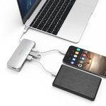 Orico Multifunctionele aluminium USB3.0 Type-C hub - Power Delivery - 4K HDMI - 2 x USB3.0 Type-A  - SD/TF kaartlezer - zilver