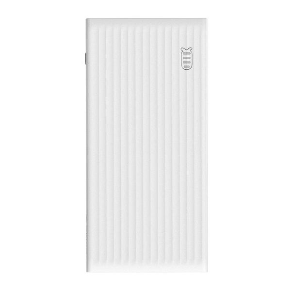 Orico Banque d'alimentation universelle à charge rapide - 20000mAh - Compatible avec le type C - Batterie Li-Po - Indicateur LED - Blanc