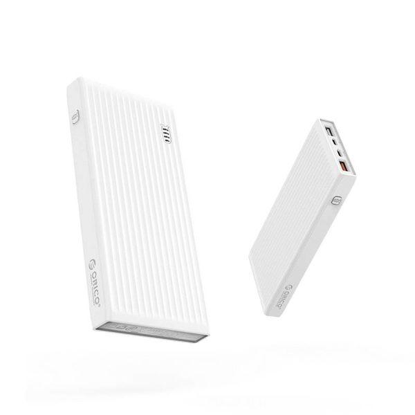 Orico Universelle Schnelllade-Powerbank - 20000mAh - Kompatibel mit Typ C - Li-Po-Akku - LED-Anzeige - Weiß