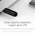 Orico USB3.0-Kartenleser für TF- und SD-Speicherkarten - OTG-Funktion - 5 Gbit / s - Schwarz
