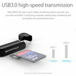 Orico USB3.0 Card Reader for TF & SD Memory Cards - OTG function - 5Gbps - Black