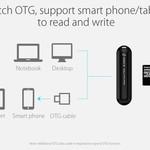 Orico Lecteur de cartes pour cartes mémoire TF & SD USB3.0 - Noir