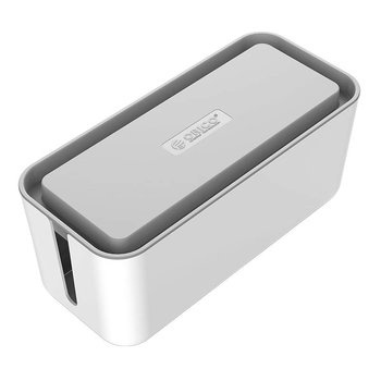 Orico Protecteur prise multifonction - matériel ABS - gestion des câbles - blanc / gris