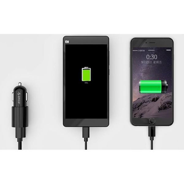 Orico USB Typ C Kfz-Ladegerät mit Typ-C- und USB-A-Ausgang