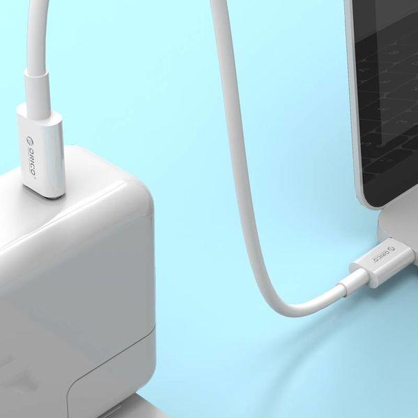 Orico Câble de charge solide de type C à type C - Charge rapide 3A - Longueur de câble: 1 mètre - Blanc