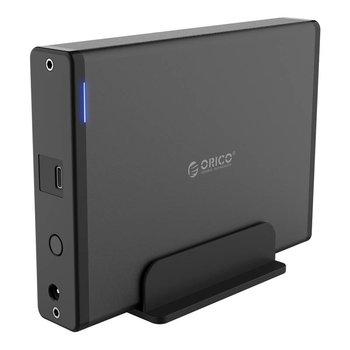 Orico Boîtier de disque dur en aluminium de type C avec fente - 3,5 pouces - HDD / SSD - Noir