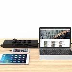 Orico stekkerdoos met acht stopcontacten en vijf USB-laadpoorten -  Incl. aan/uit schakelaar en overspanningsbeveiliging - Zwart