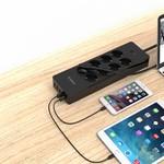 Orico Steckdose mit acht Steckdosen und fünf USB-Ladeports - Schwarz