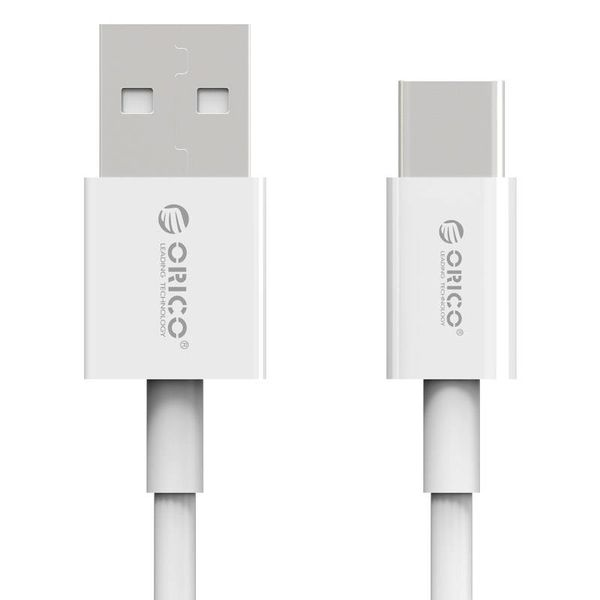 Orico Type-C to Type-A charging cable - 3A Fast Charge - Cable length: 1 meter - White