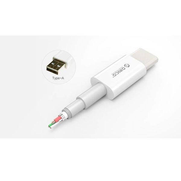 Orico Câble de charge de type C à type A - Charge rapide 3 A - Longueur de câble: 1 mètre - Blanc