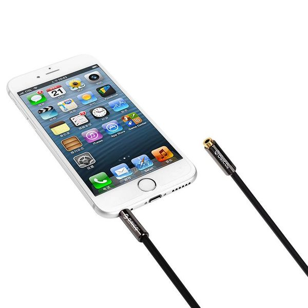 Orico 3.5mm jack stereo audio extension cable Male -> Female - 1 meter - Black