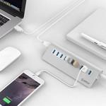 Orico Aluminium 10 Poort USB 3.0 hub 5Gbps geschikt voor o.a. computer / laptop / MacBook / iMac - Zilver