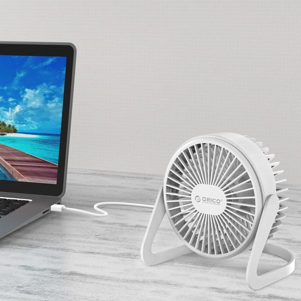 Orico Mini USB fan - rotates 360 degrees - 1.5W - <35dB -Incl. type-A to Micro B cable of 1M - White