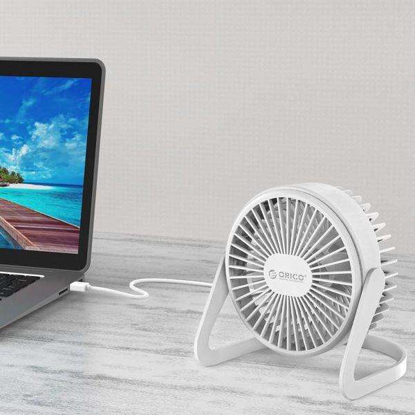 Orico Mini-USB-Lüfter - dreht sich um 360 Grad - 1,5 W - <35 dB - Inkl. Typ A zu Micro B Kabel von 1M - Weiß