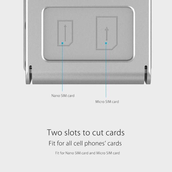 Orico Mini SIM naar Micro en Nano Dual simkaartknipper – Roestvrij staal – Ergonomisch ontwerp - Zilver